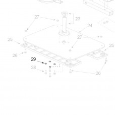 Teleco 04911 spare part Onderlegring grover M6 T.65/85