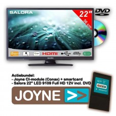 Salora  LED 9109DVD 22 inch in combi joyne module